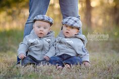 Cute twin pose.  @moxiethrift on etsy Suttner We can do this with the boys!