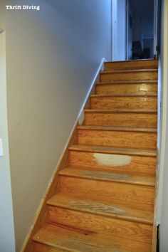 DIY Painted Stairs Makeover - Thrift Diving Blog - 794