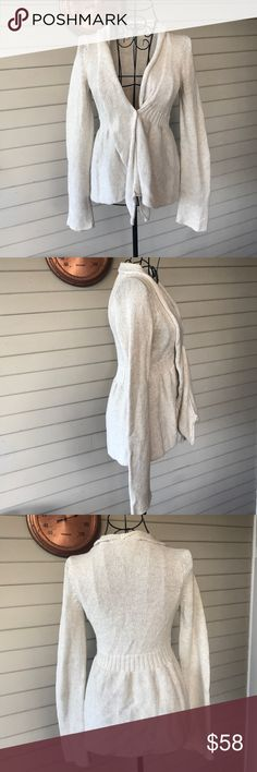 Anthropologie Sparrow Draped Creme Cardigan Anthropologie Sparrow Draped Creme Cardigan Anthropologie Sweaters Cardigans