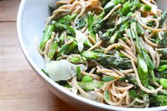 Peppery Pasta with Asparagus