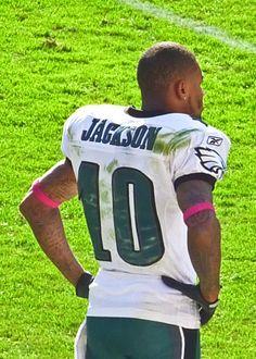 DeSean Jackson in Washington, DC as an Eagle wearing Jersey number 10