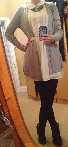 The Girl With Nothing To Wear: White and Grey