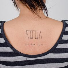 """don't forget to play"" - tattly temporary tattoo"