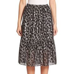 MICHAEL MICHAEL KORS Garrett Metallic Paisley Jacquard Skirt
