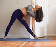 Yoga Triangle pose \ Trikonasana - Argentina Rosado Yoga NYC