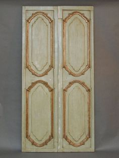 interior doors with molding | Pair of 18th c. Venetian Doors with Gilded Molding (SOLD)