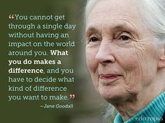 Truth / words for inspiration / motivation / Jane Goodall I want to make people…