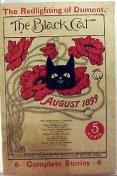 """The Black Cat"" Magazine Cover - August 1899"