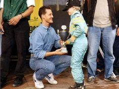 Little did Sebastian Vettel know back then that he would emulate his idol's success