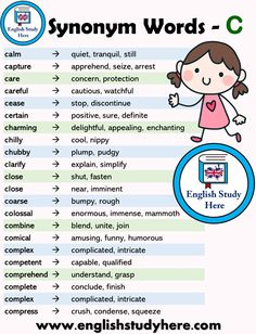 Learn English 576883033508203014 - Learn English 662169951450818837 – Synonym Words List – C – English Study Here 624944885771331334 Source by Source by annemelendrez Teaching English Grammar, English Writing Skills, English Vocabulary Words, English Language Learning, English Idioms, English Phrases, Learn English Words, English Study, English Lessons For Kids