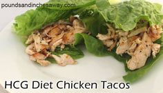 This is one of the most popular HCG recipes for phase 2 of the HCG diet. Mock HCG Diet Tacos! www.poundsandinchesaway.com