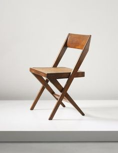 Pierre Jeanneret 'Library' chair, model no designed for the High Court and Punjab University, Chandigarh, 19591960 is part of furniture - 1960s Furniture, Folding Furniture, Folding Chair, Vintage Furniture, Diy Furniture, Modern Furniture, Furniture Design, Luxury Furniture, Velvet Office Chair