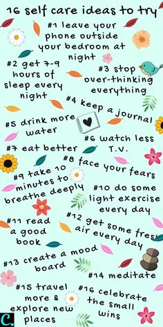 16 Self Care Tips You Can Easily Do To Feel Better Right Now! - Captivating Crazy - 16 Self-Care Ideas To Start Right Now Infographic… 16 Self Care Tips You Can Easily Do To Feel Better Right Now! Vie Motivation, Happiness Challenge, Happiness Project, Vie Positive, Self Care Activities, Self Improvement Tips, Self Care Routine, Best Self, Self Development