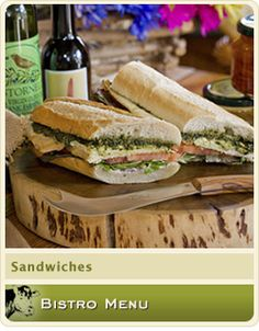 a bisto sanwich and a glass of wine perfect!