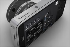 iCam is the vision of Italian designer Antonio DeRosa, the idea is to have a device that attaches to the iPhone, which then allows the user to have a camera with interchangeable lenses. The device would also feature a front-touch screen and a projector. Would be great if apple picked up on this and made it reality.