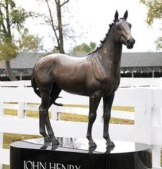 John Henry   bronze sculpture at the   Kentucky Horse Park - this is a simply beautiful park, make some time to enjoy it all
