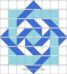 Make quilts come to life with visual illusions created by using half square triangles. Nancy Zieman will share her No Hassle Triangle Gauge method to create Illusion Quilts.Illusion Quilts Made Easy: Slip Knot Quilt Pattern Barn Quilt Patterns, Patchwork Patterns, Pattern Blocks, Patchwork Quilting, Quilting Patterns, Free Quilt Block Patterns, Quilting Ideas, Simple Quilt Pattern, Crochet Quilt Pattern