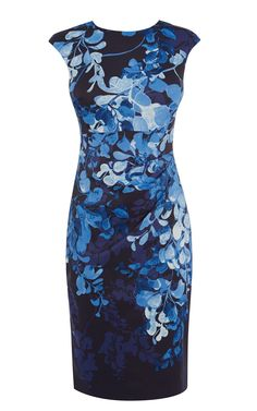 BLUE TONE WISTERIA PENCIL DRESS | Luxury Women's new-in_garments | Karen Millen