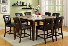 Dining Table With 6 Chairs Lisbon I Collection CM3693T