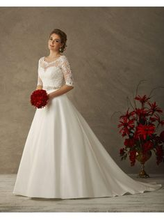 Cheap plus size wedding, Buy Quality vestido de noiva de directly from China plus size wedding dress Suppliers: Modest See Through Neck Plus Size Wedding Dresses With Half Sleeves Bridal Gown Winter Vestido De Noivas De Princesa Wedding Dress Sleeves, Modest Wedding Dresses, Cheap Wedding Dress, Wedding Dress Styles, Bridal Dresses, Wedding Gowns, Bridesmaid Dresses, Prom Dresses, Ivory Wedding