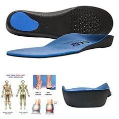 7999cda864 Arch Support Orthotic Shoe Insoles for Women-Men Shoe Inserts Recommended  for Plantar Fasciitis Fallen Arches Or Flat Feet Pain Relief, Injury  Prevention ...