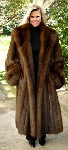 Abolutely gorgeous sable............My Fave, hands down ............ #Fashion Passion to Fur world OMG. I would ask for nothing else ever of I got this coat!
