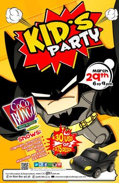 Don't you miss our Kid's Party! March 29th. Tickets available: www.cocobongo.com.mx