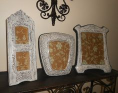 Three Upcycled Baroque Vintage Shabby Chic by FurnitureFusion