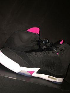 best cheap 2a5b0 07360 Nike Air Jordan 5 Retro GG Black Deadly Pink White 440892-029 Size 7Y BOX  NO LID  fashion  clothing  shoes  accessories  kidsclothingshoesaccs   unisexshoes ...