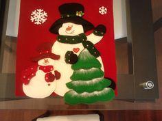 Camino De Mesa Papa Noel Christmas Sewing, Christmas Crafts, Xmas, Christmas Tablescapes, Christmas Decorations, Holiday Decor, Fabric Crafts, Diy Crafts, Mug Rugs