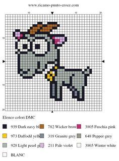 animaux - animals - chèvre - point de croix - cross stitch - Blog : http://broderiemimie44.canalblog.com/