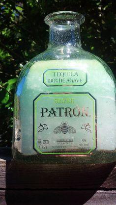 Items similar to Silver Patron Bottle Candle on Etsy Bottle Candles, Bottles And Jars, Perfume Bottles, Tequila, Patron Bottle Crafts, Gadget Gifts, Oil Lamps, Vodka Bottle, Nom Nom