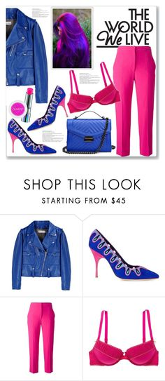 """""""Electric World"""" by queenvirgo ❤ liked on Polyvore featuring Golden Goose, Manolo Blahnik, Alexander McQueen, Aerie and MAC Cosmetics"""