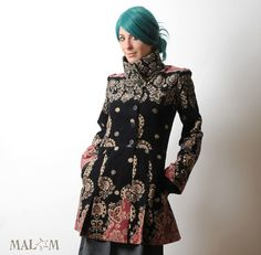 Baroque Frock Coat with tall collar