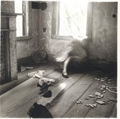 Francesca Woodman: House Providence, Rhode Island, Francesca Woodman was an American fine art photographer who tragically ended her life aged Francesca Woodman, Rhode Island, Exposure Time, Long Exposure, Black And White Pictures, Black White, Montage Photo, Miguel Angel, To Infinity And Beyond