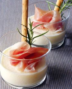 Pineapple mousse with ham breadsticks.  Combining flavors to create new harmonies is an art and sometimes the most unusual pairings bring stunning results. Whether you need a sophisticated starter to serve before dinner or an impressive ...