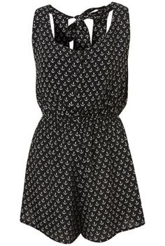 Anchor Print Playsuit Cover Up ($50-100) - Svpply