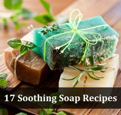 17 Soothing Soap Recipes. The best way to enjoy bath time is to make it relaxing and slow, and these homemade soothing soap recipes will help to do just that!