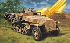 Sd.Kfz. 251 1 Ausf. D бронетранспортер с рамочной системой пусковой реактивной установки.