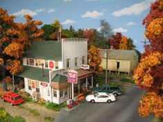 Miniature streets and towns.   http://www.giftkone.com/collectibles.html