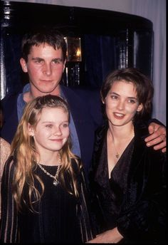 I love everyone in this picture: Winona Ryder, Christian Bale and Kirsten Dunst (Little Women Premiere)