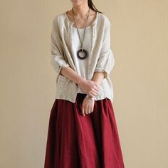 Packages mailed 2014 contracted pure linen shirt cardigan female literature and art department of forestry's blouses cotton coat