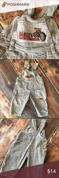 Harley Davidson corduroy overalls Very good condition minus a broken zipper pull. Does not affect the function of the zipper! Harley-Davidson One Pieces