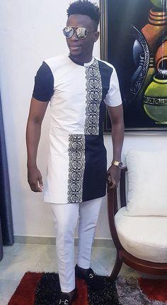Jbagoro African Shirts For Men, African Attire For Men, Nigerian Men Fashion, African Men Fashion, Men's Fashion, Fashion Looks, Men's Coats And Jackets, Savage, Menswear