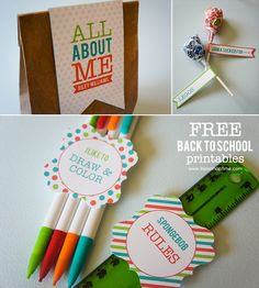 """""""All About Me"""" Back to School Printables I Heart Nap Time   I Heart Nap Time - Easy recipes, DIY crafts, Homemaking"""