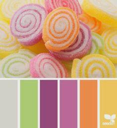 Kids room paint ideas for girls color combos design seeds Ideas Spring Color Palette, Colour Pallette, Color Palate, Spring Colors, Colour Schemes, Color Combos, Color Patterns, Vintage Color Schemes, Design Seeds