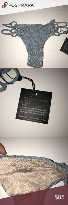 ACACIA MOLOKINI CROCHET BOTTOM brand new with tags!!!! Sky color acacia swimwear Swim Bikinis