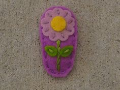 Bitsy Light Purple Daisy Orchid Wool Felt Hair by sundropclips, $5.00