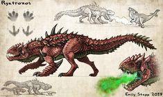 Ryatroxos Monster Hunter Concept Commission by EmilyStepp on DeviantArt Monster Concept Art, Alien Concept Art, Creature Concept Art, Fantasy Monster, Creature Design, Monster Hunter Art, Monster Art, Mythical Creatures Art, Alien Creatures