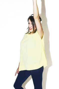#DIESSE #SpringSummer2016 #shirt-Plain Kimono blouse, boat neck #model #StellaScorzo #photographer #MariannaDepasquale #designer #DiegoSalerno  http://www.diessefashion.it/